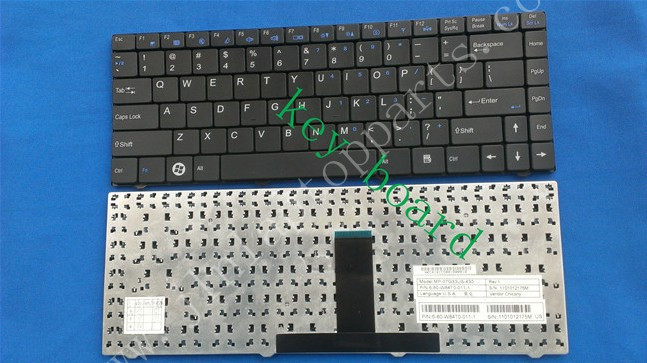 New Laptop US Layout Keyboard For CLEVO W84 W84T MP-07G33US-430(China (Mainland))