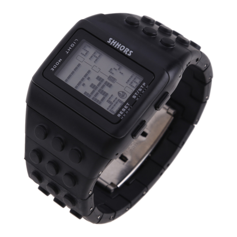 Гаджет  Full Black Colors For Lovers Multi Function Watch Sports Retro Chic Unisex Digital Constructor None Часы