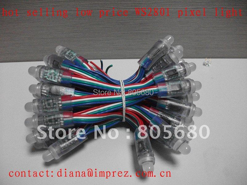 Free Shipping 12mm WS2801 strings IP66 DC5V full Color Led Pixel Module<br><br>Aliexpress