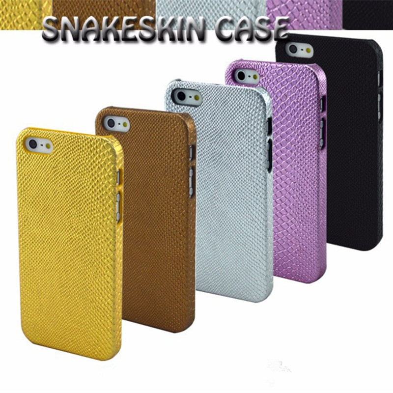 Luxury Classics Vintage Snake Skin Design Leather + Plastic Case For iphone 5 5s SE Ultra Thin Protection Back Cover for iphone5(China (Mainland))
