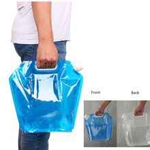 5L/10L Outdoor Foldable Folding Collapsible Drinking Water Bag Car Water Carrier Container for Outdoor Camping Hiking Picnic BBQ(China (Mainland))