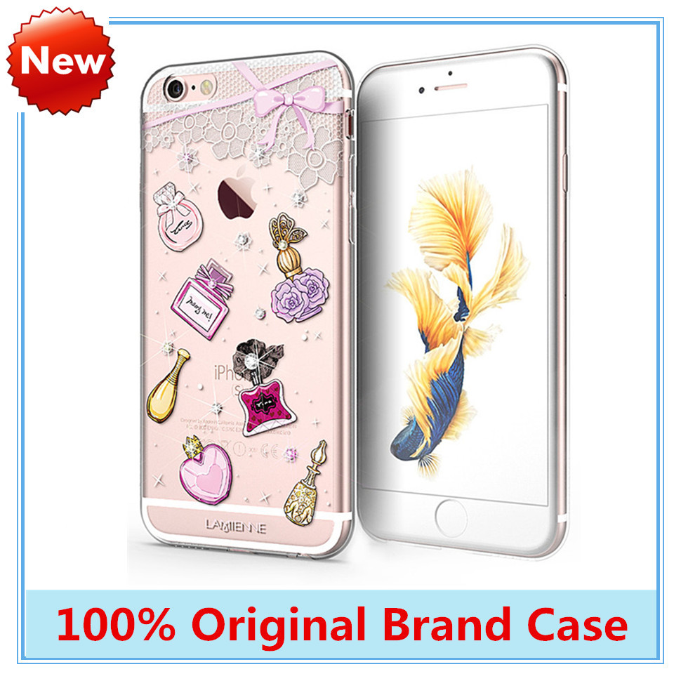 Hot Sexy Perfume Soft TPU Phone Cases for iPhone 6 6s 4.7-inch Case Luxury High Quality Rhinestone Top Brand Lamienne Back Cover(China (Mainland))