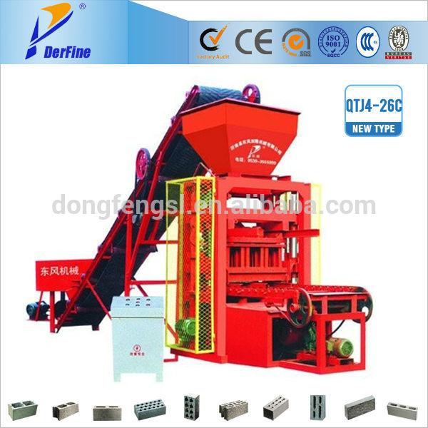 QTJ4-26 cement block brick machine / block making machines sets to algeria(China (Mainland))