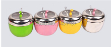 fashion different colors 304 Stainless Steel material kitchen spice storage bottles accessories