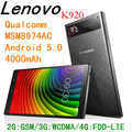 Original Lenovo VIBE Z2 Pro K920 Quad Core MSM8974AC Android 4 4 4G Cell Phones 2