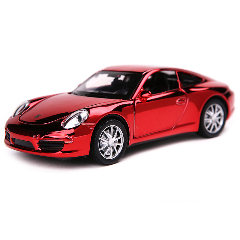 4 Color 1:32 Prosch 911 Shining Cover Diecast Metal Car Model Children Favorite Collection Mini Alloy Car Toy Birthday Gift(China (Mainland))