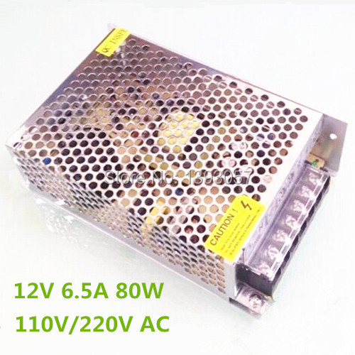 2PCS AC/DC 12V 6.5A 80W led strip switching power supply transformer adapter metal box for led strip<br><br>Aliexpress