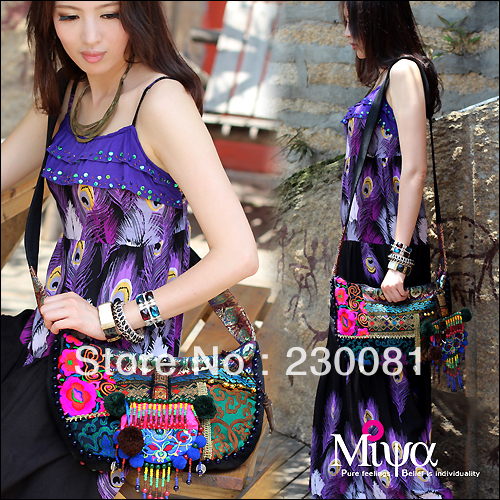 Chinese Items Bohemian India Embroidery Messager Bag/Shoulder Bag Fashion Ethnic Ladies' Handbag Travell Casual