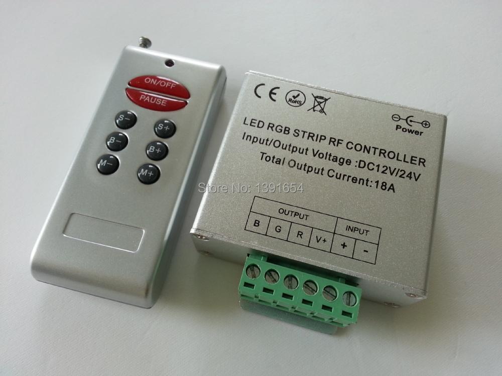 DC12-24V Short supply led Aluminum light bar controller RF 8 Keys RGB Controller Remote controller Strips Free Shipping(China (Mainland))