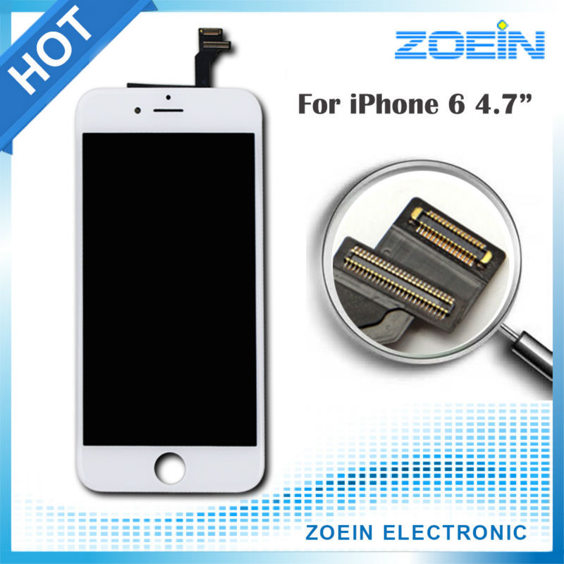 100% Dead Pixel Replacement 4.7 Screen LCD iPhone 6 Display Digitizer Touch Assembly Black White - Shenzhen Zoein VIP Technology co,ltd store
