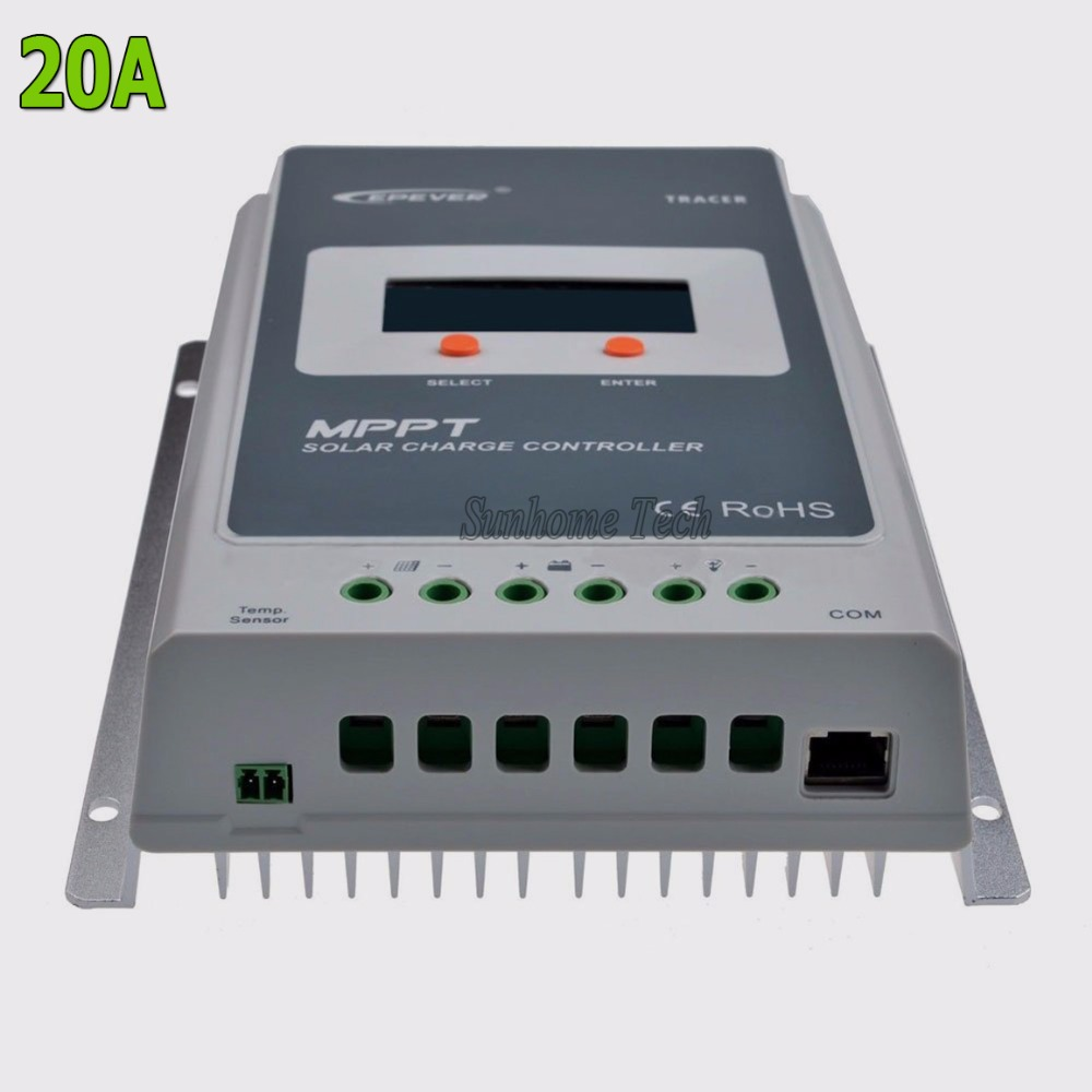 Tracer 2210A MPPT Solar Charge Controller 20A 12V 24V Auto Switch LCD Solar Panel Battery Regulator Charge Controller Max 520W(China (Mainland))