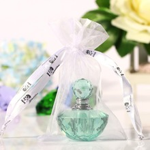 4ML 2inch Unique Mini Crystal Glass Green Woman Travel Perfume Bottle Empty Art Bottle Refillable Container Wedding Lady Gift(China (Mainland))