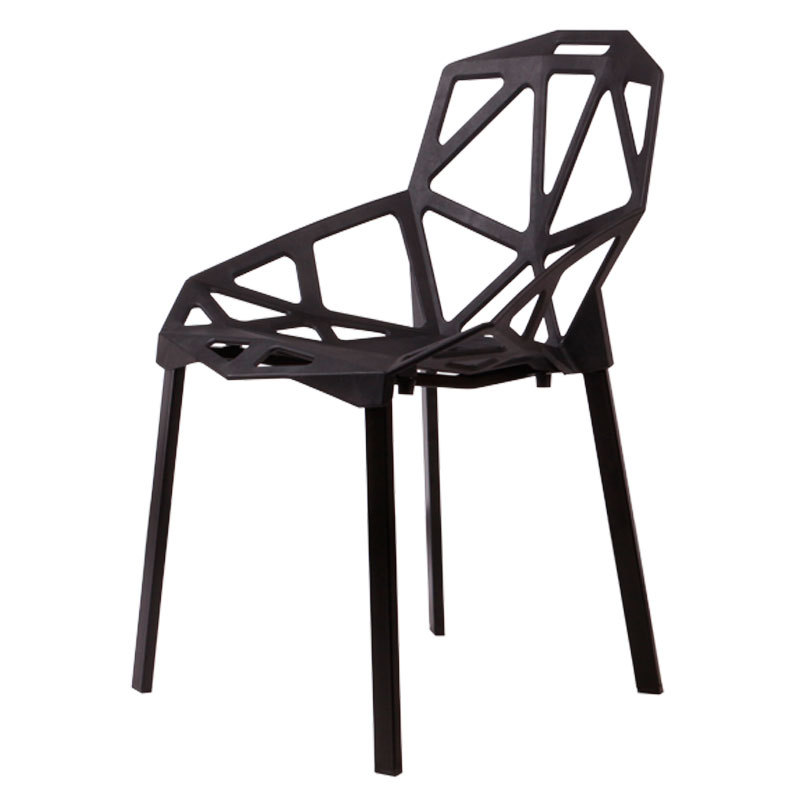 Excellent Modern Minimalist Wooden Hollow Plastic Chair