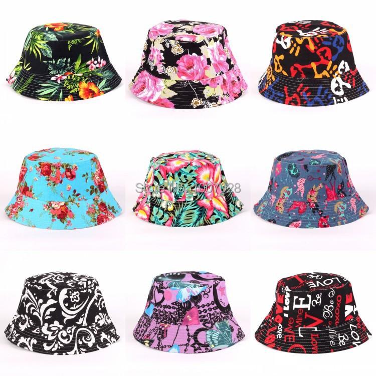 Bucket Hats Flowers Flower Canvas Bucket Hat
