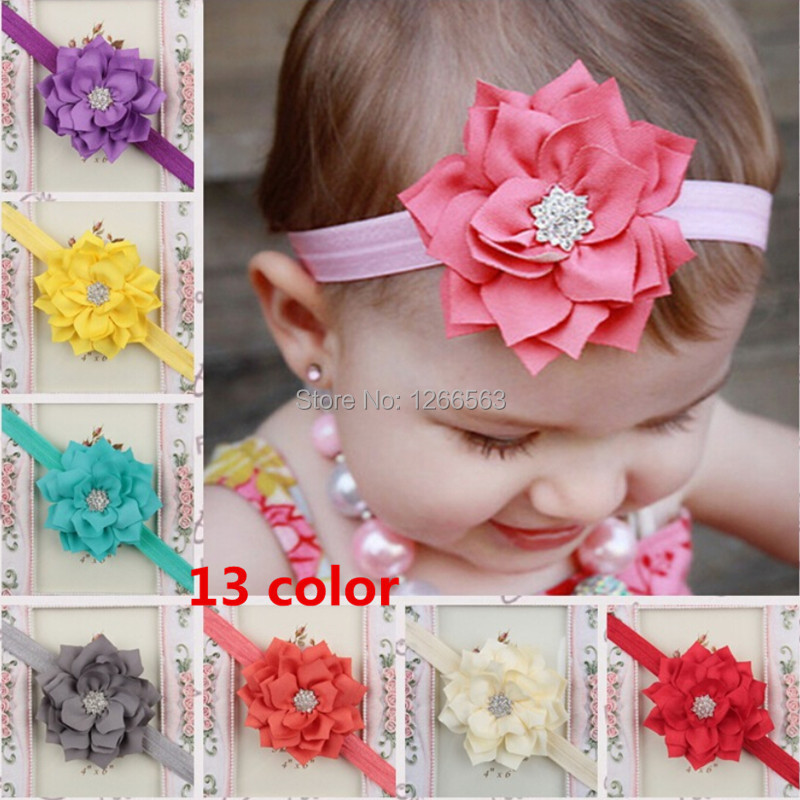 Fashion Baby Girl Toddler Infant Elastic Feather Hairband Headbands Baby Hair Band Flower Accessories