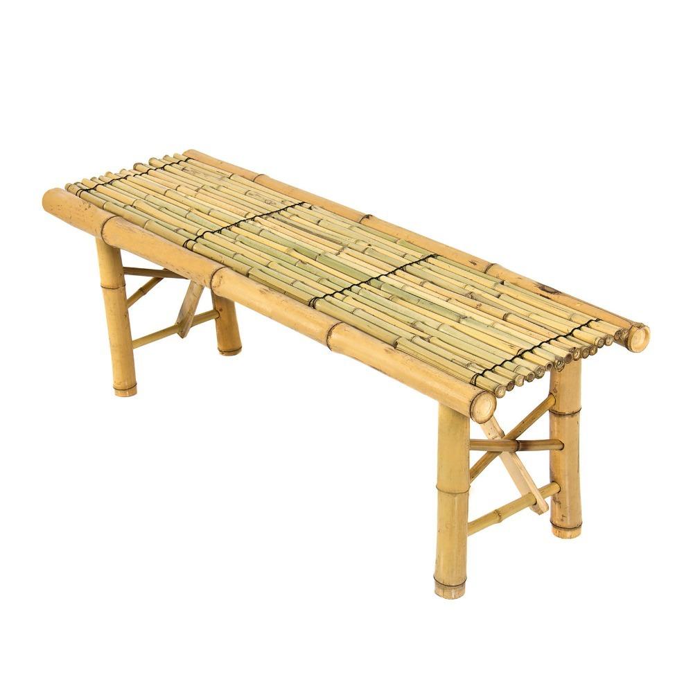 Plein air banc terrasse chambre bar bambou banc tiki for Table basse bambou
