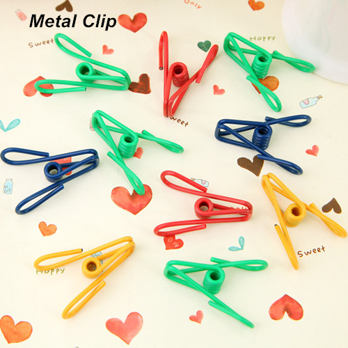 80 pcs/Lot Mini metal clips pegs for bag storage clothes memo note clamp paper Kitchen accessories Novelty household 8546(China (Mainland))