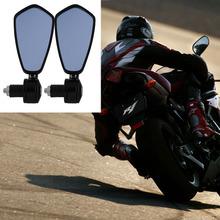 "New Diamond Aluminum Alloy Racing Motorcycle 7/8"" Bar End Grip Rearview Mirror(China (Mainland))"