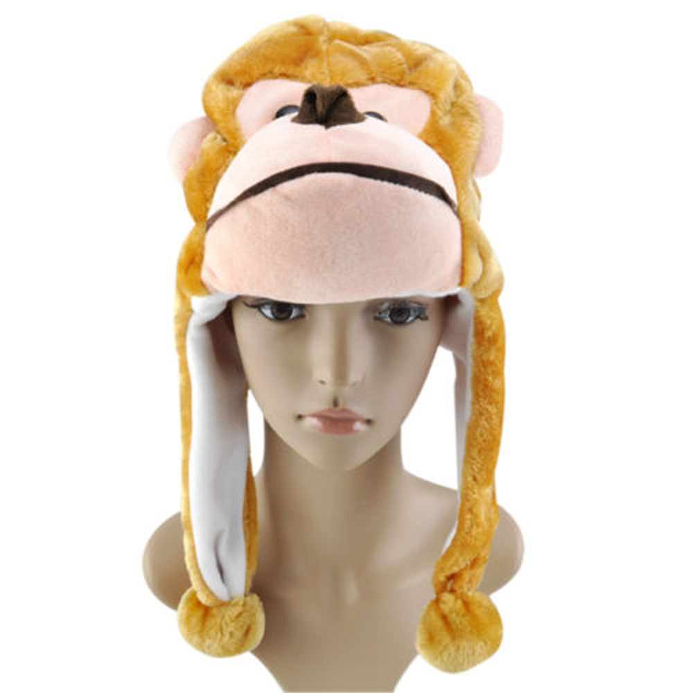 2015 Highly Commend Childrens Animal Hat With Scarf Mit, Faux Fur Kids Winter Hat Cool Gift UK(China (Mainland))