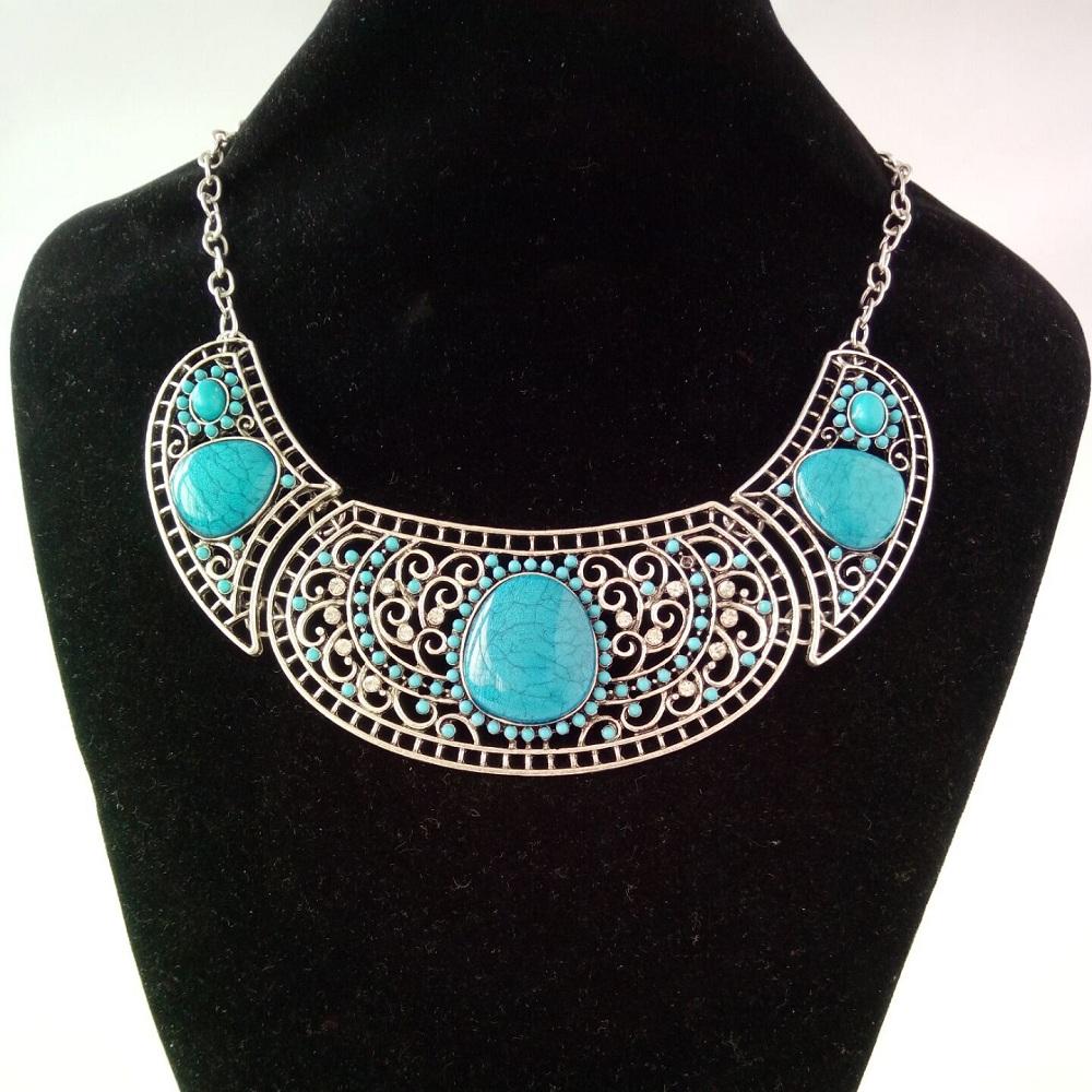 2016 Fashion bijoux choker Vintage Bohemian statement necklaces & pendants tassel gypsy ethnic maxi Necklace Women fine jewelry(China (Mainland))