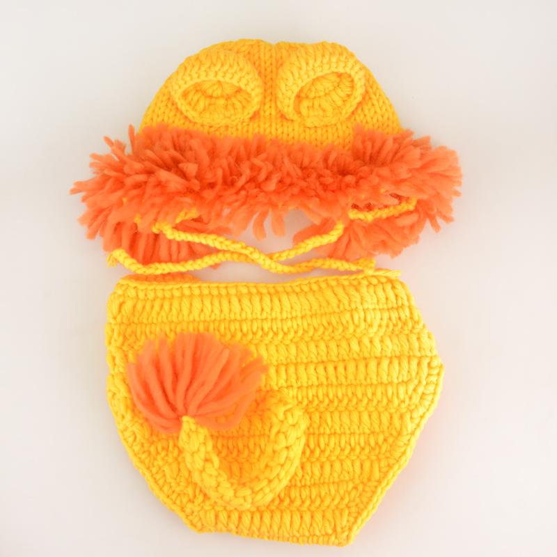 2016 Cute Lion Baby Hat Cap,Knitting Baby Costume Crochet Pattern Newborn Photography Accessories#P0297(China (Mainland))