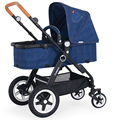 Fashion High Quality Cowboy Luxury Baby Stroller Aluminum Alloy Folding Strollers Shockproof Baby Car Prams for