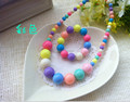 Rainbow Chunky Baby Necklace bracelet sets Bubblegum Necklace Girl toddler Birthday Necklace Baby Jewelry Photo Prop