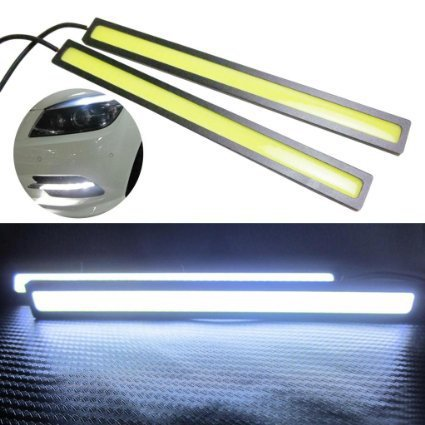 2pcs Ultra Bright 12W 17cm 14cm Silver Shell Daytime Running light 100% Waterproof COB Day time Lights LED Car DRL Driving lamp(China (Mainland))
