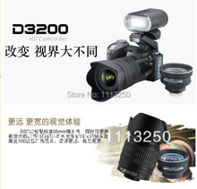Free shipping D3200 digital camera 16 million pixel camera Professional SLR camera 21X optical zoom HD LED headlamps cheap sale