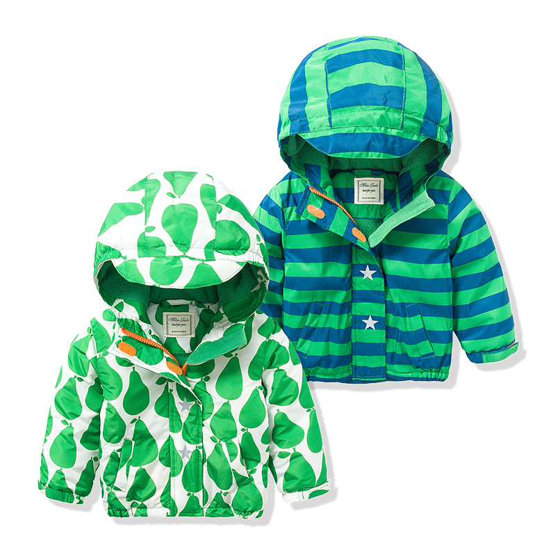Brand Spring Children Jackets Plus Velvet Boys Outerwear Coat 2-8 Years Kids Hooded Waterproof Windproof Autumn Jacket For Boys(China (Mainland))