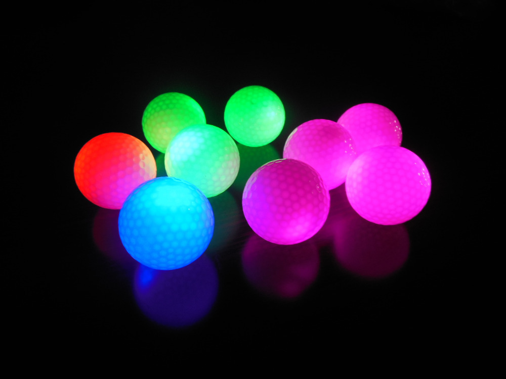 USGA Standard 200pcs LED Golf Ball Night Constant Shining Two Layer luminous Glowing Golf Training Balls(China (Mainland))