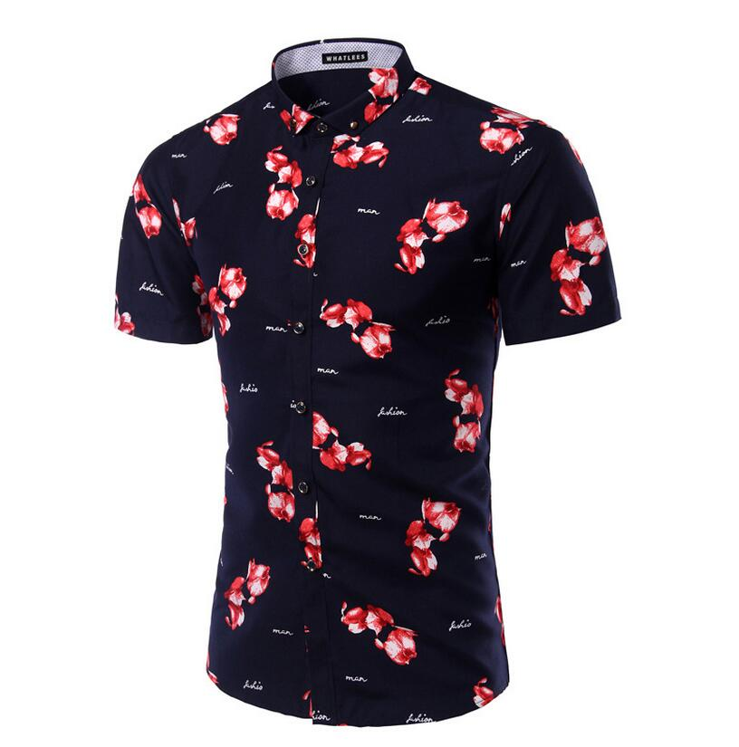M - 5 Xl2016 Spring The New Foreign Trade Has Embroidery Embroidery Men's Cultivate One's Morality Short Sleeve Shirt X - 122(China (Mainland))
