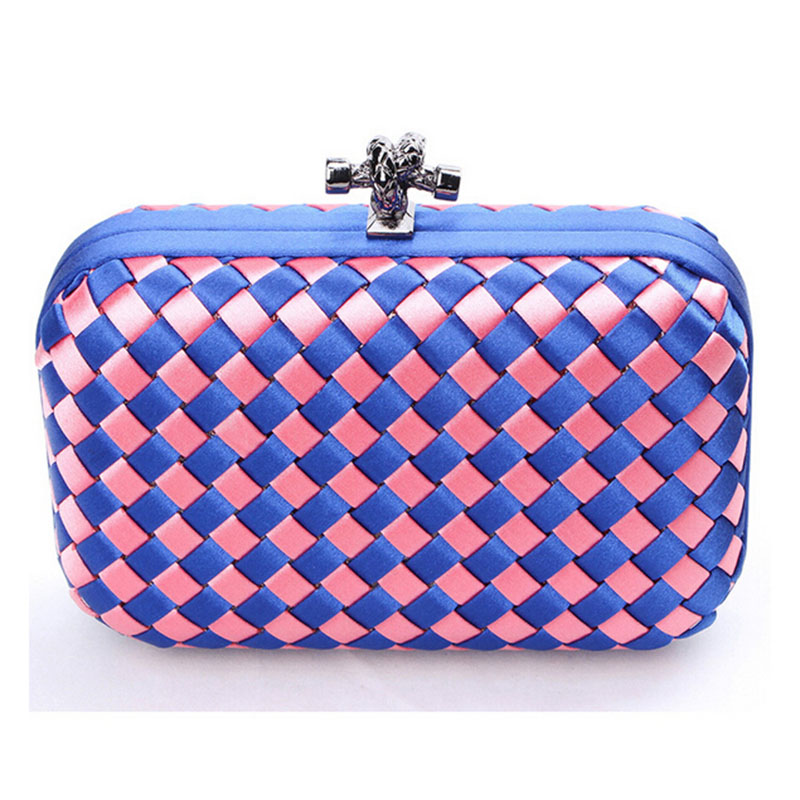 2015 Hot Fashion Handmade Woven Clutch Hasp Ladies Evening Bag Chain Handbag Bridal Wedding Party Purses bolsas mujer XA1430C<br><br>Aliexpress