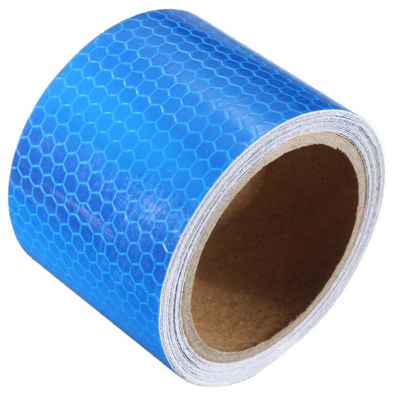 NEW Waterproof 5 cm x 3 meter  Outdoor Safety Security Caution Reflective Tape Warning Tape Sticker Self Adhesive Tape Blue
