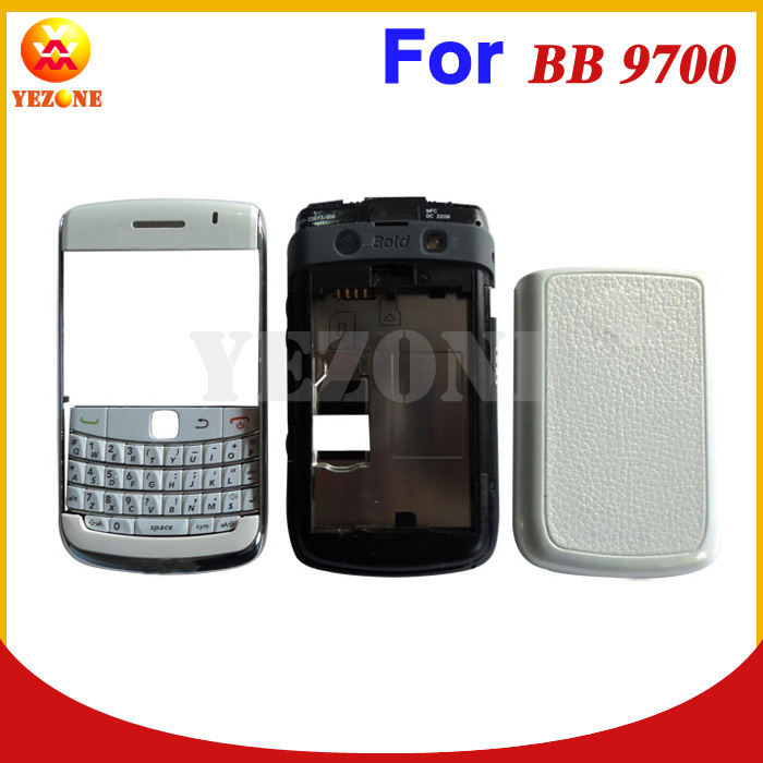 Free Shipping Original New Housing Cover Case Faceplate Case Cover For Blackberry Bold 9700 Full Housing With Keypad +Tracking(China (Mainland))