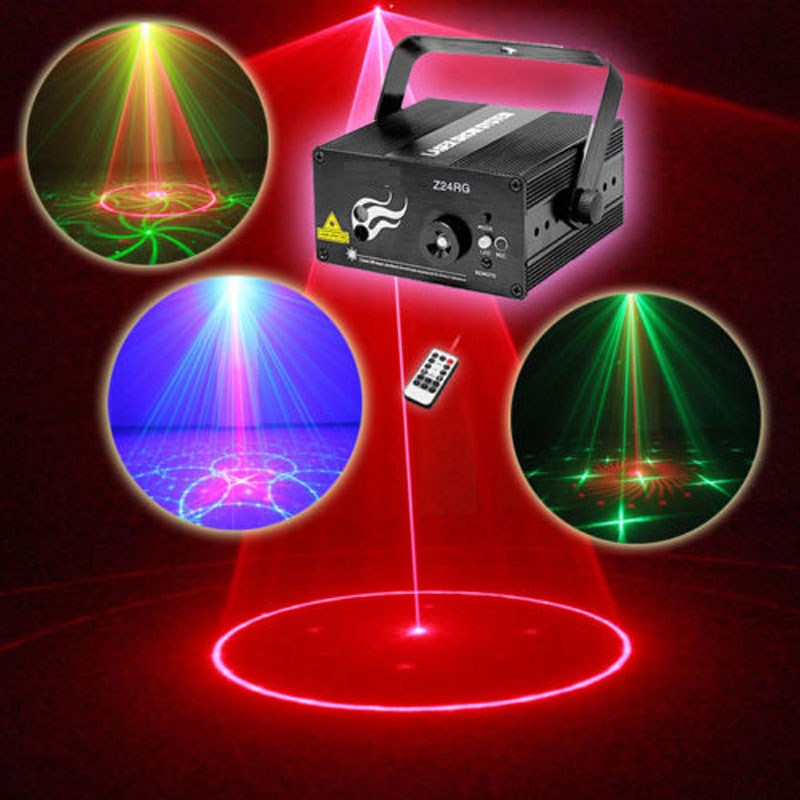 Mini Disco Party Laser Lights And Music Lumiere dj Equipment Red Green 18 Patterns Night Club Lighting(China (Mainland))