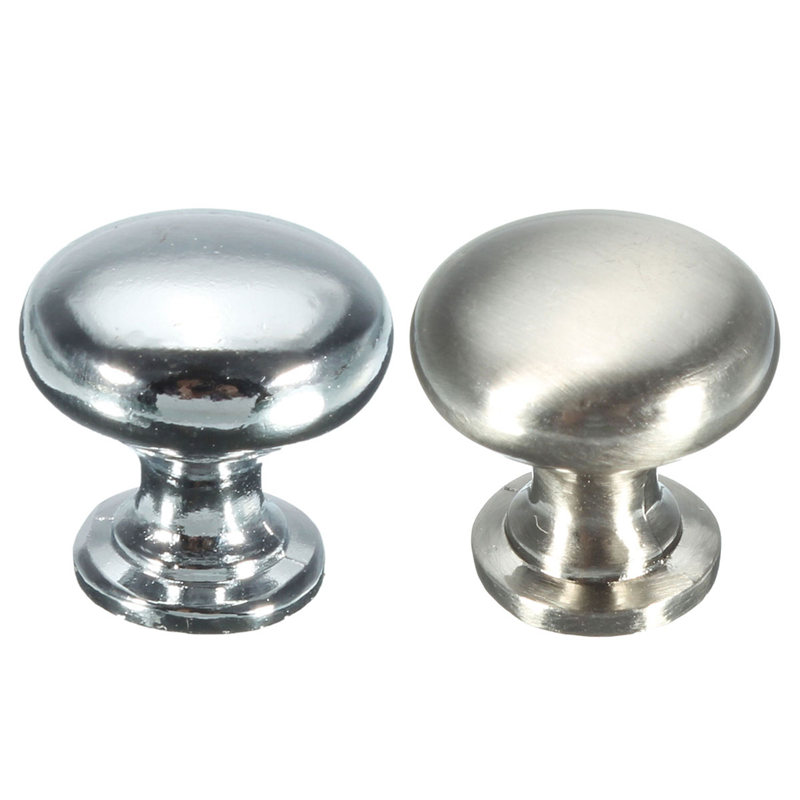 Durable 18mm Round Cupboard Drawer Furniture Cabinet Kitchen Pull Handle Door Knob Brass 2 Colors 17x18mm(China (Mainland))