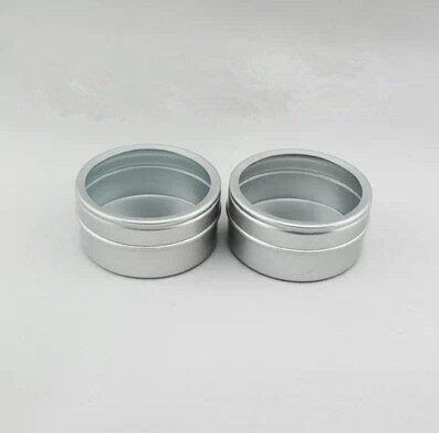 40g aluminum jar with PVC window lid,40ml aluminum canister with window,40g/ml aluminum canister(China (Mainland))