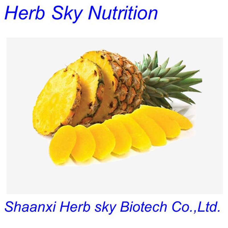 GMP factory 100% pure natural Pineapple Extract Powder 200g/lot free shipping by EMS(China (Mainland))