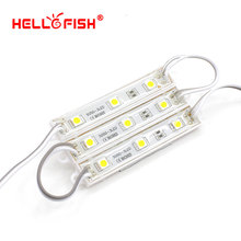 Hello Fish 100pcs DC12V 5050 3 LED Modules Green/Red/Blue/White/Warm White IP65 Waterproof(China (Mainland))