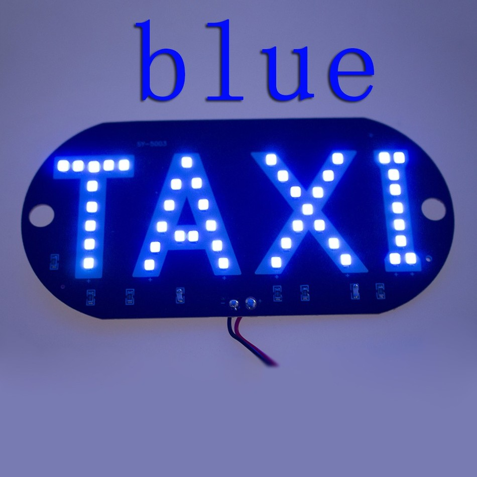 1pcs/lot 12V Taxi Led Car Windscreen Cab indicator Lamp Sign Blue LED Windshield Taxi Light Lamp 4 colors CG