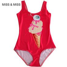 One Piece Sexy Eye Maillot De Bain Swimsuits For Women Swimwear Printed Ice Cream Swimsuit Plus Size One Piece Swimsuit Bodysuit