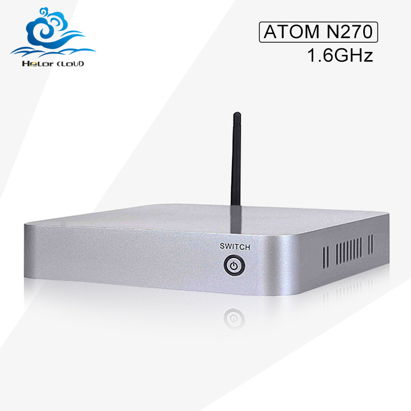 Low price Mini pc N2701.6GHZ Micro desktop computer Barebone nettop windows xp 7 linux with 300M wifi Vga Com(China (Mainland))