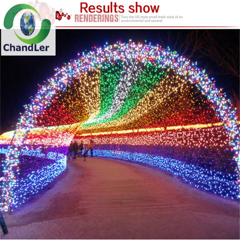 Holiday Decoration LED Lights String Outdoor 100M 600Leds AC220V White Warm W