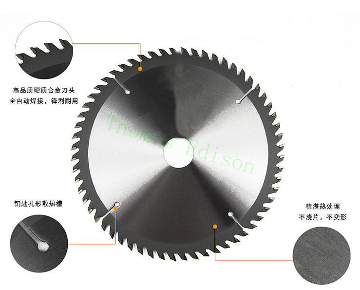 7'' 180mm 60 teeth Professional woodworking carbide cutting machine tool electric circular alloy steel saw blade