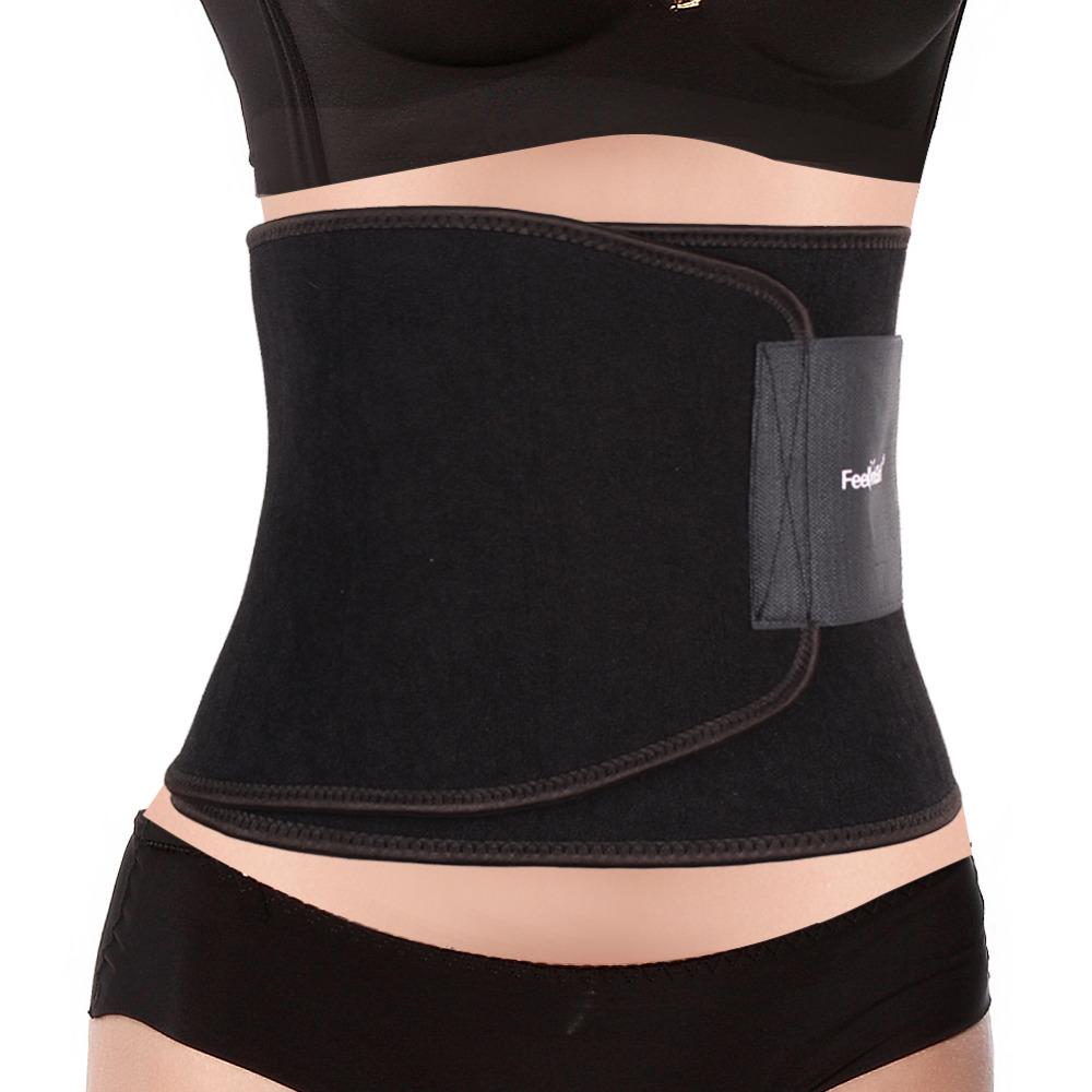 Men Women Unisex Workout Waist Trainer Black Postpartum Belt Brand Waist Trainers Waist Cincher Ceinture Minceur Fajas(China (Mainland))