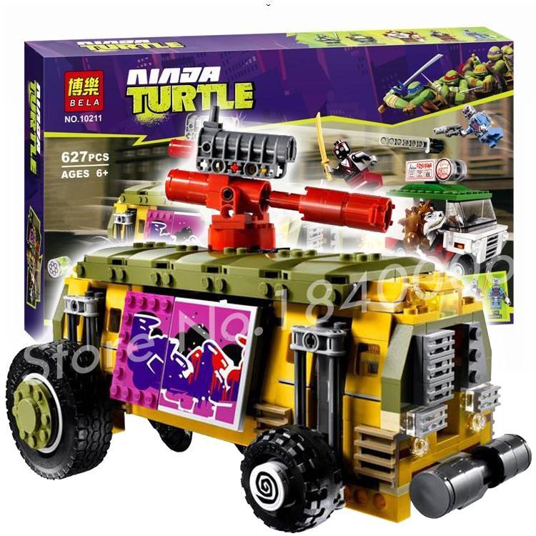 62Bela new 10211 TMNT Ninja Turtle Shellraiser Street Chase Building Blocks Set Action Figure Toys Compatible Lego