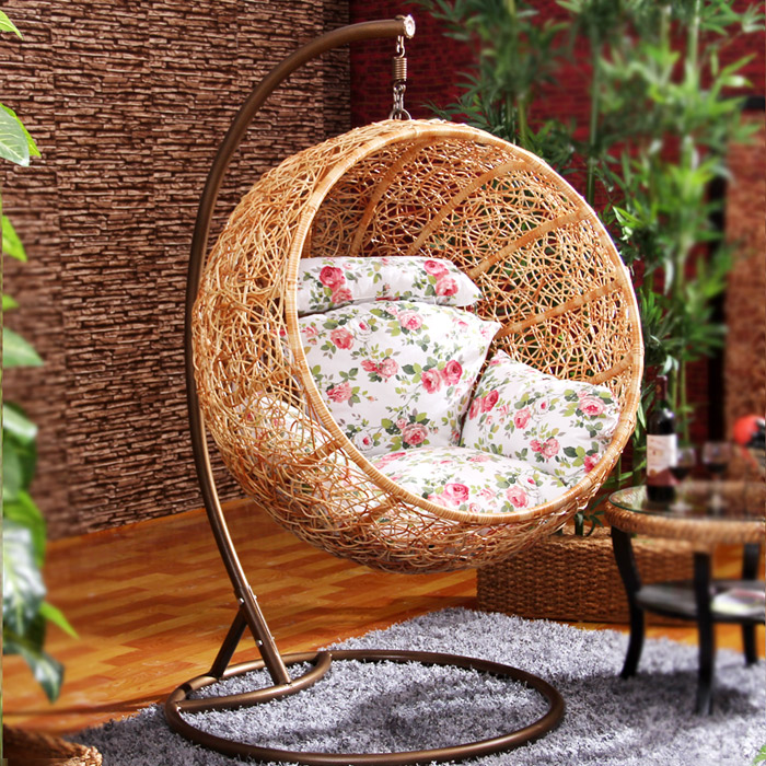 Indoor And Outdoor Wicker Chair Lazy Hammock Hanging Chair .
