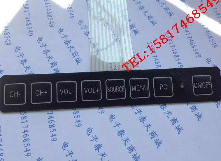 Переключатель мембраны / матрицы монитора клавиатуры / мембранная клавиатура / панель управления ключа 8 1*8 подсветка клавиш,