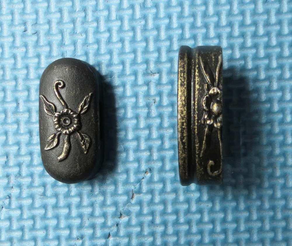 stainless steel fuchi & kashira for Japannese samurai sword(China (Mainland))